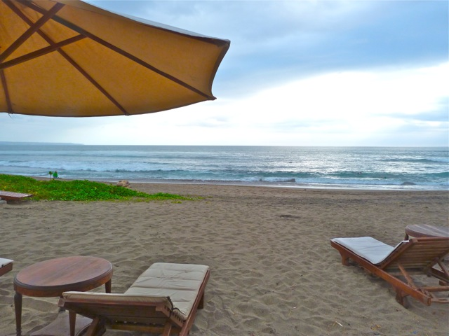 Beach at Canggu on Bali's western shore