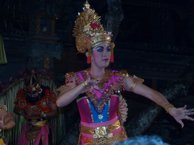 Dance from the Ramayana at the Water Palace in Ubud