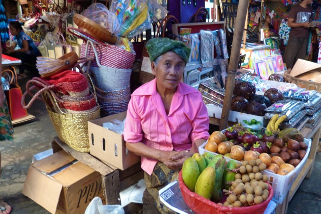 Fruit seller at the Ubud market